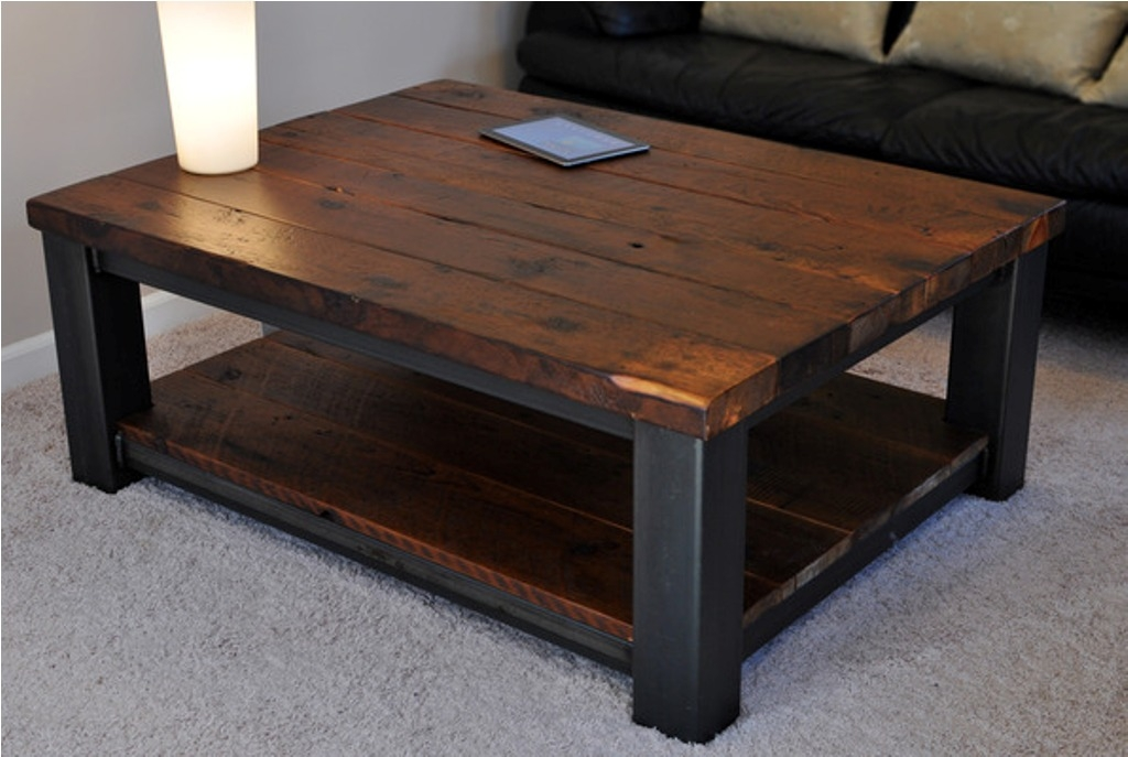 Innovative Popular Large Rustic Coffee Tables Regarding Large Square Rustic Wood Coffee Table Build Rustic Wood Coffee (View 4 of 50)
