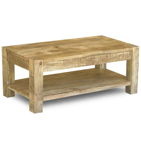 Innovative Popular Mango Wood Coffee Tables Within Handmade Timbergirl Reclaimed Mango Wood Coffee Table And Shelf (Image 31 of 50)
