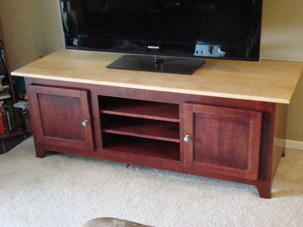 Innovative Popular Maple TV Cabinets Inside Cherry Bemaple Tv Stand Code28woodworks Lumberjocks (View 7 of 50)