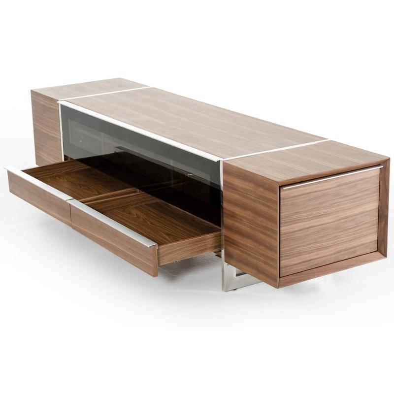Innovative Popular Modern Walnut TV Stands Intended For Buy The Modrest Lorena Modern Walnut Tv Stand Vig Furniture (View 12 of 50)