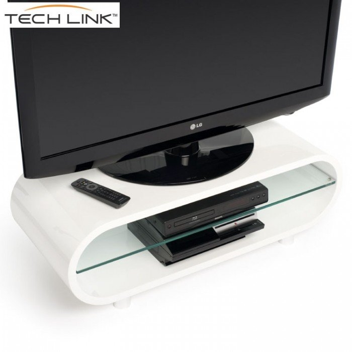 Innovative Popular Opod TV Stands White Within Techlink Ovid Ov95w Gloss White Tv Stand  (Image 33 of 50)