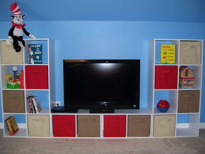 Innovative Popular Playroom TV Stands Intended For Tv Stands New Released Cube Organizer Tv Stand 8 Cube Organizer (Image 27 of 50)