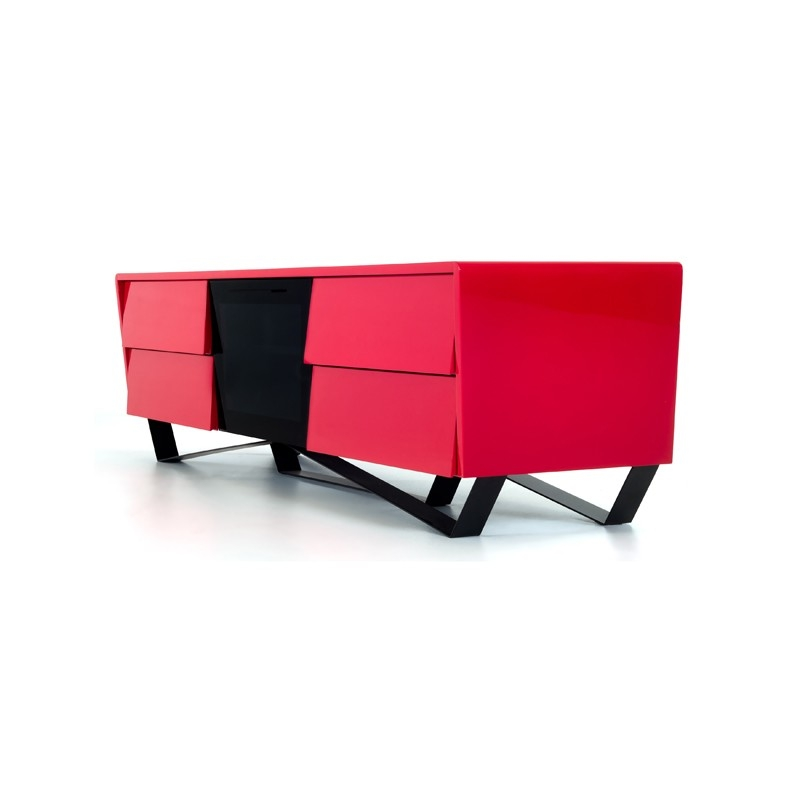 Innovative Popular Red Modern TV Stands With Nova Domus Max Modern Red Tv Stand (Image 28 of 50)