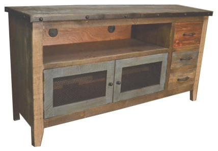 Innovative Popular Rustic TV Stands For Sale Inside 62 Wide Tv Stand Media Center Industrial Entertainment (Image 33 of 50)
