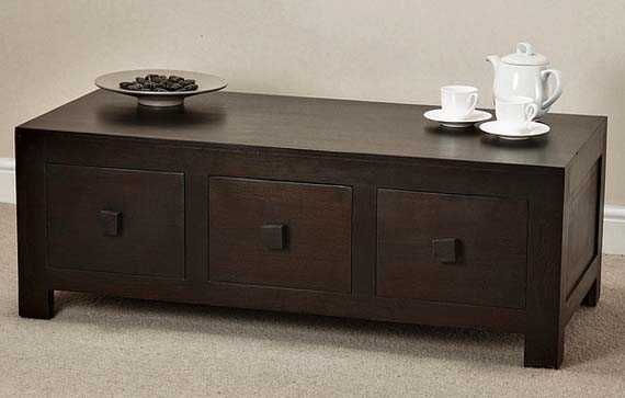 Innovative Popular Solid Oak Coffee Table With Storage Inside Solid Dark Wood Coffee Table Design Living Room Furniture With (Image 28 of 50)