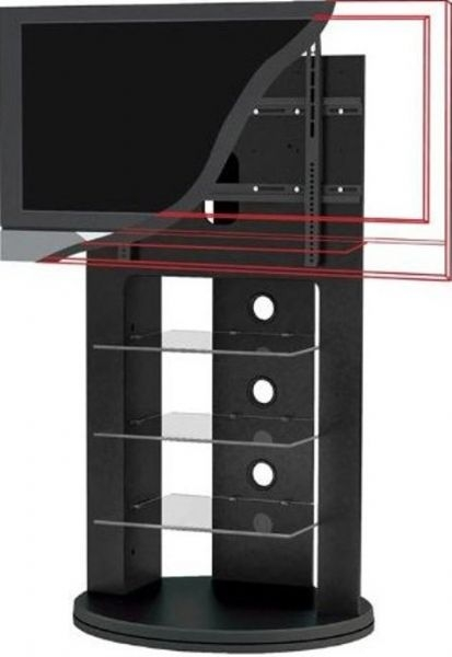 Innovative Popular Sonax TV Stands Inside Sonax Zx 8680 Swivel Base Mounted Tv Stand For 37 52 Tvs (Image 30 of 50)