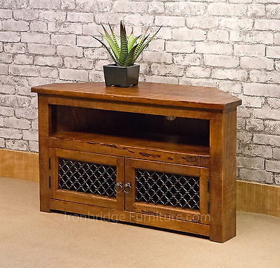 Innovative Popular TV Stands 100cm Wide In Solid Jali Mango Wood Furniture Rustic Farm Corner Tv Stand (View 44 of 50)