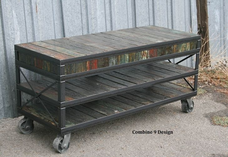 Innovative Popular Vintage TV Stands For Sale Pertaining To Buy A Custom Made Mid Century Modernvintage Industrial Media (View 23 of 50)