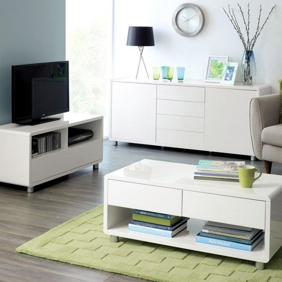Innovative Popular White Gloss TV Stands With Drawers With Regard To Best 20 White Gloss Tv Unit Ideas On Pinterest Tv Unit Images (Image 33 of 50)