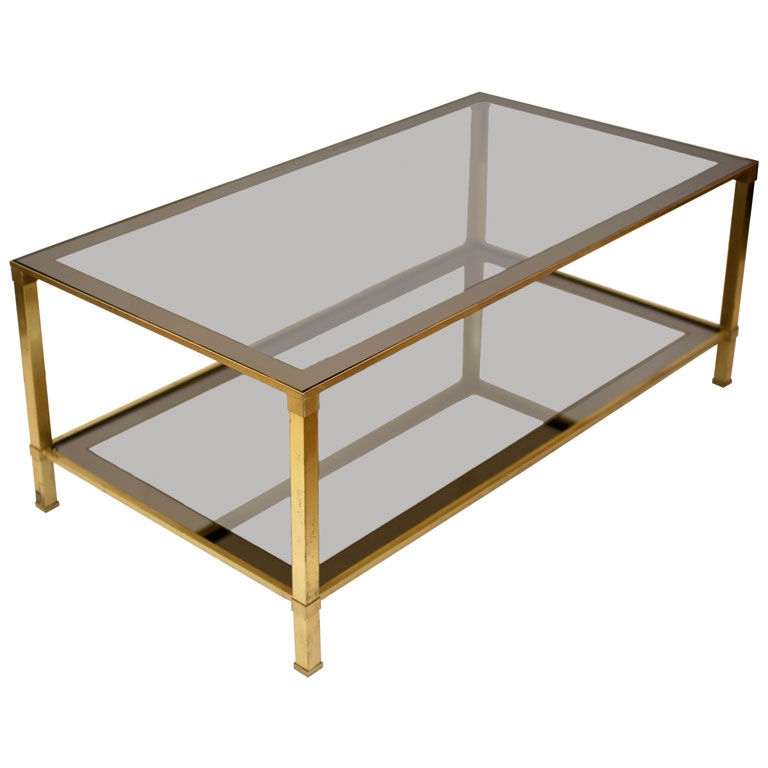Innovative Preferred Antique Brass Glass Coffee Tables In Vintage Brass Tray Coffee Table Coffeetablesmartin Tables (Image 32 of 50)