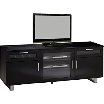 Innovative Preferred Black Modern TV Stands Pertaining To Amazon Coaster 700672 Contemporary Tv Stand With High Gloss (Image 28 of 50)