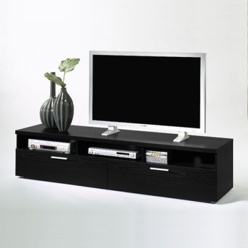 Innovative Preferred Black TV Stands With Drawers With Black Tv Stand Cabinet Drawer Shelf Media Storage Wood Living Room (Image 34 of 50)