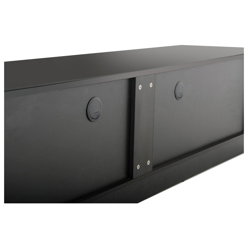 Innovative Preferred Contemporary Black TV Stands With Regard To Buy The Modrest Caeden Contemporary Black High Gloss Tv Stand (View 27 of 50)