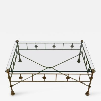 Innovative Preferred Iron Glass Coffee Table Inside Diego Giacometti Giacometti Style Patinated Hand Wrought Iron (Image 36 of 50)
