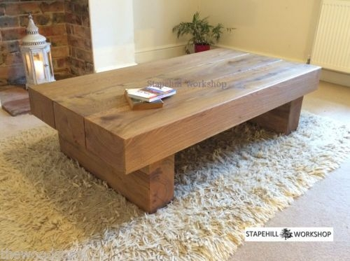 Innovative Preferred Large Low Rustic Coffee Tables Throughout Magnificent Rustic Oak Coffee Table Oak Coffee Tables Large Oak (View 16 of 50)