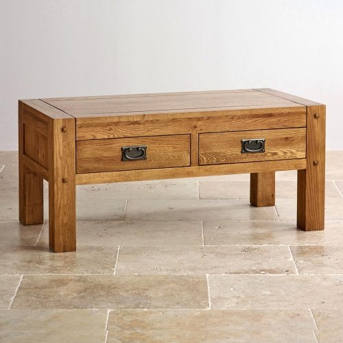 Innovative Preferred Light Oak Coffee Tables With Drawers Intended For Coffee Table Round Oak Coffee Table With Square Baselow Large (View 35 of 40)