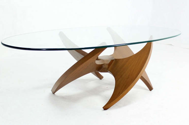 Innovative Preferred Oval Walnut Coffee Tables With Regard To Modern Oval Coffee Tables Table And Estate (Image 34 of 50)