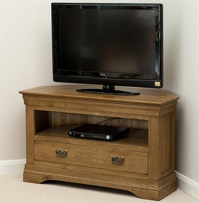 Innovative Preferred Solid Wood Corner TV Cabinets Regarding Toulouse Solid Oak Corner Tv Cabinet Sha036 Right Price Furniture (Image 37 of 50)