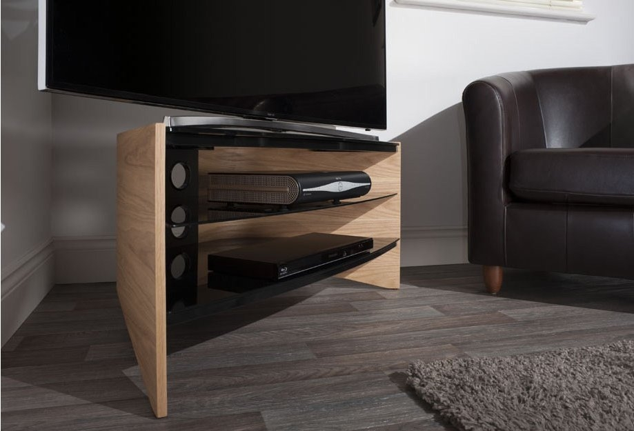 Innovative Preferred Techlink Riva TV Stands For Techlink Riva Light Oakblack Tv Stand For Up To  (Image 30 of 50)