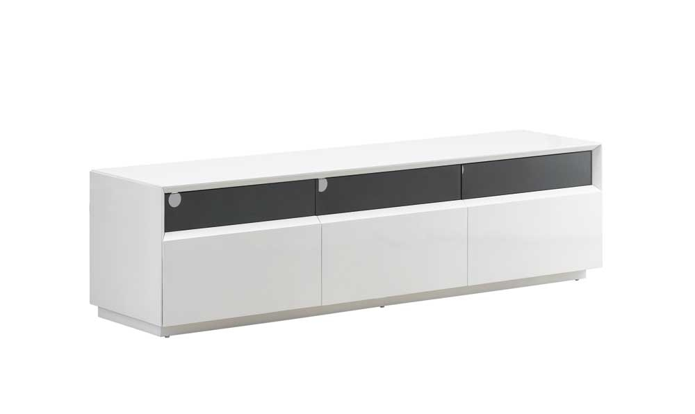 Innovative Preferred White And Black TV Stands Pertaining To Tv023 White Gloss Tv Stand Black Jm Furniture (Image 31 of 50)