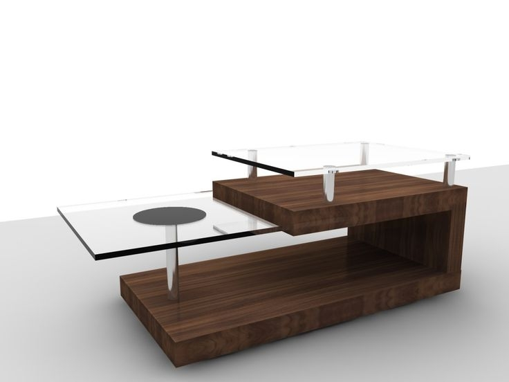 Innovative Preferred Wood Modern Coffee Tables Regarding Modern Glass And Wood Coffee Table Coffee Tables Furniture (Image 31 of 50)