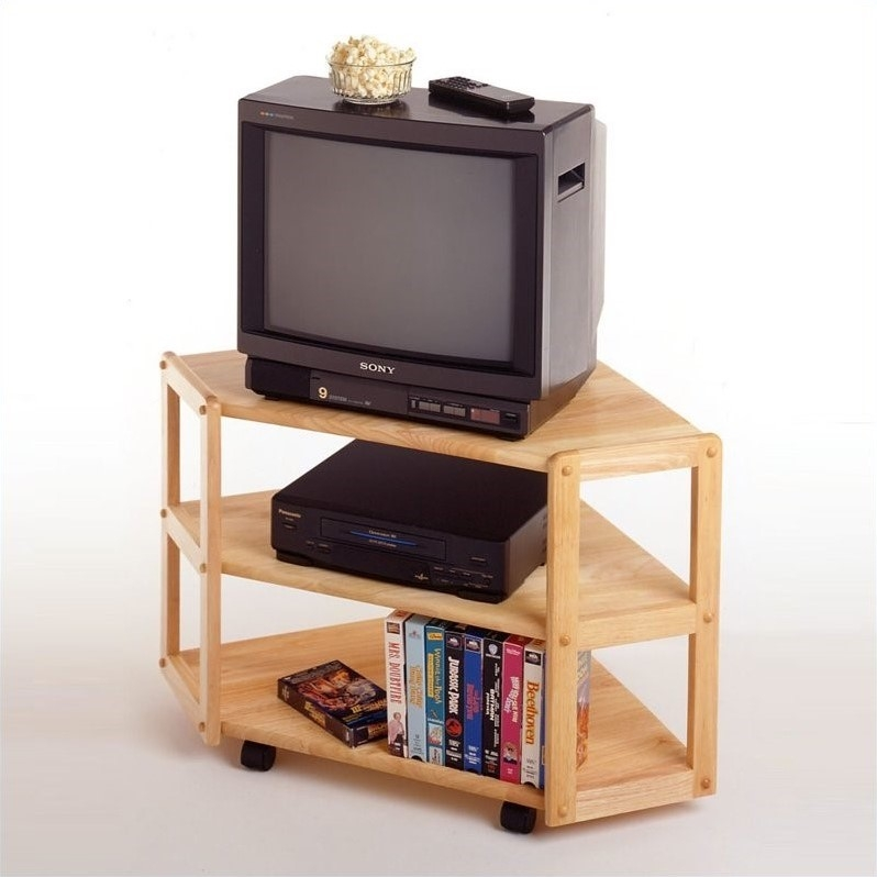 Innovative Preferred Wooden Corner TV Stands Inside Solid Wood Corner Tv Stand In Beech (View 15 of 50)