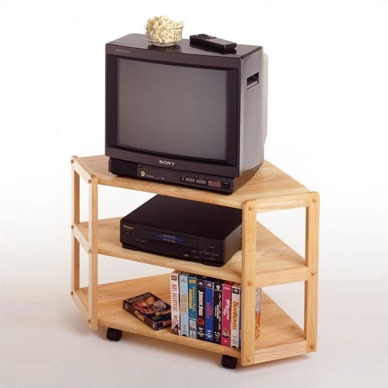 Innovative Preferred Wooden Corner TV Stands Inside Solid Wood Corner Tv Stand In Beech  (Image 31 of 50)