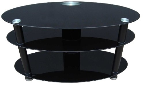 Innovative Premium Black Oval TV Stands With Duronic Tvs47a1 Contemporary Oval Design Glass Tv Stand For 29  (Image 30 of 50)