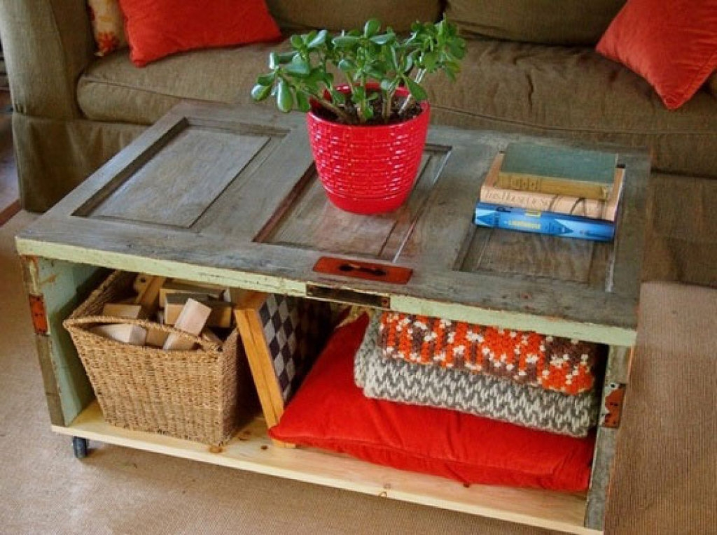 Innovative Premium Coffee Table With Wicker Basket Storage Inside Rustic Living Room Furniture Design With Diy Square Low Coffee (Image 27 of 40)