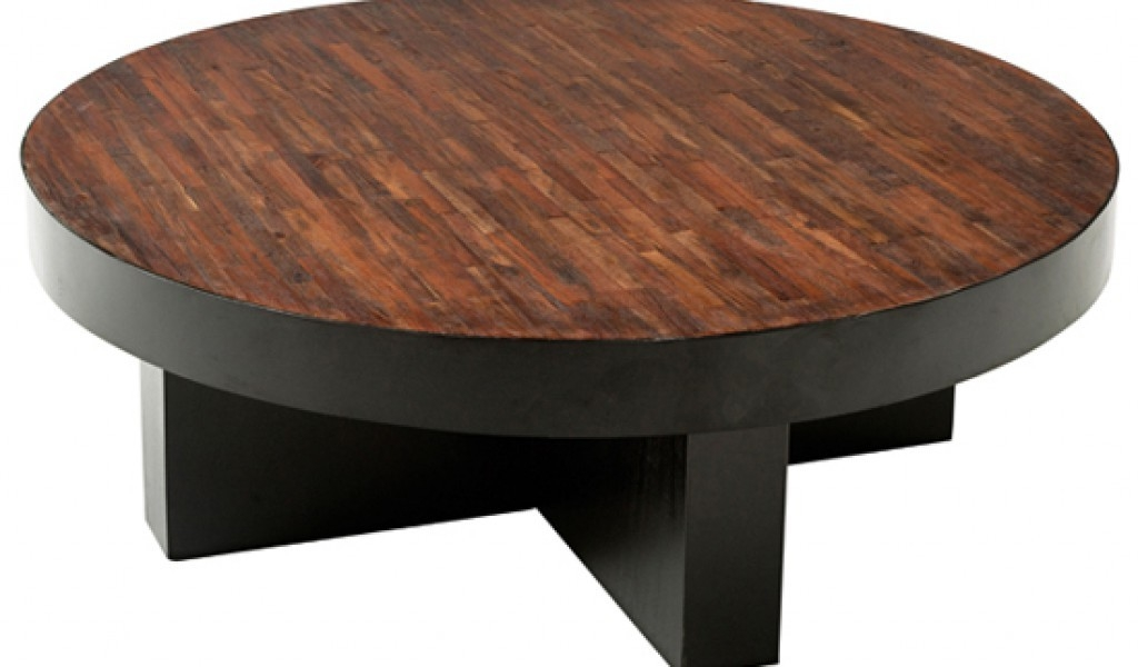 Innovative Premium Dark Wood Round Coffee Tables With Lovable Round Dark Wood Coffee Table With Coffee Table Astounding (Image 31 of 50)