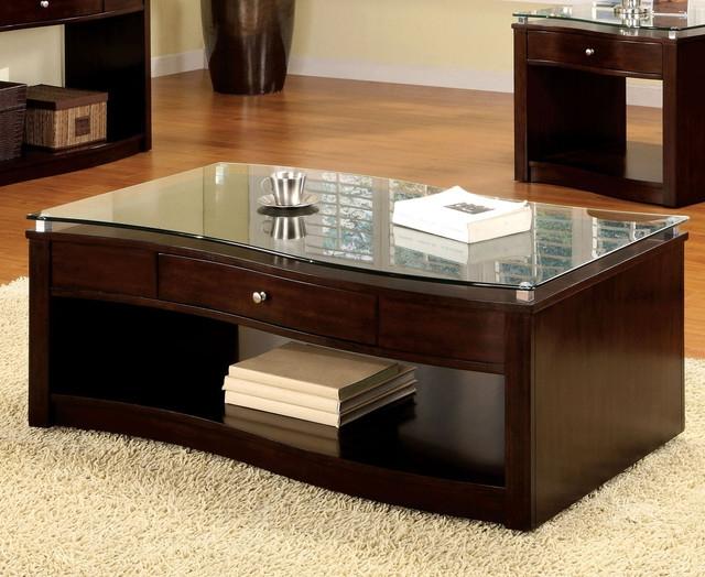 Innovative Premium Espresso Coffee Tables With Regard To Espresso Glass Coffee Table Szahomen (View 32 of 50)