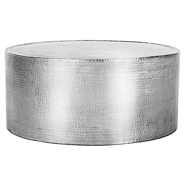 Innovative Premium Hammered Silver Coffee Tables Inside Fashion N You Lyric Hammered Coffee Table Reviews Wayfair (Image 32 of 50)