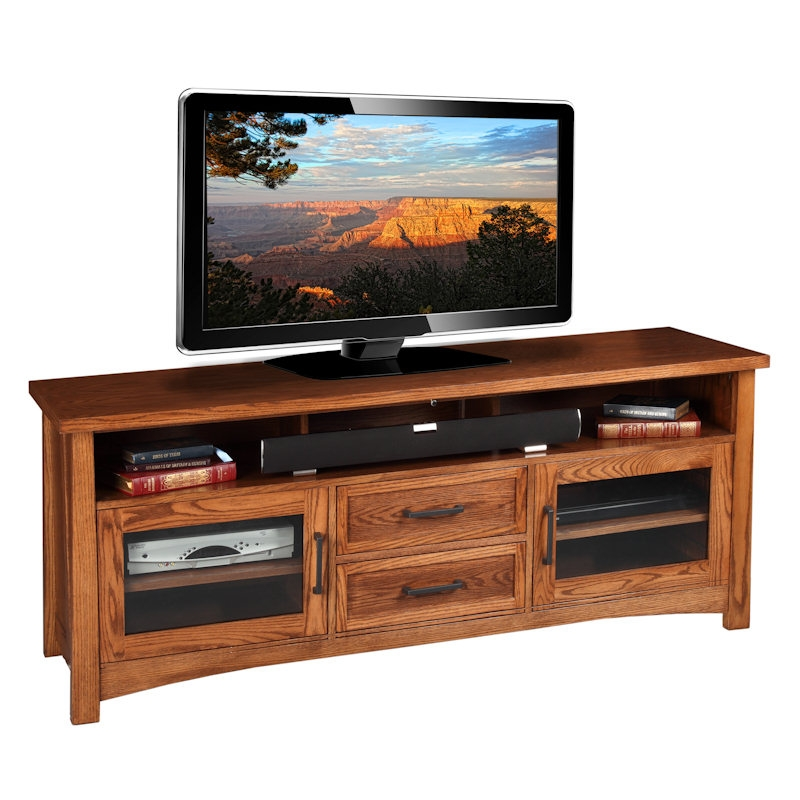 Innovative Premium Honey Oak TV Stands Intended For Fresh Oak Tv Stand With Bracket (View 12 of 50)