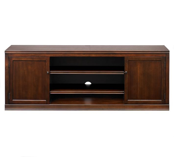 Innovative Premium Large TV Cabinets With Logan Large Tv Stand Hewn Oak Pottery Barn (View 36 of 50)