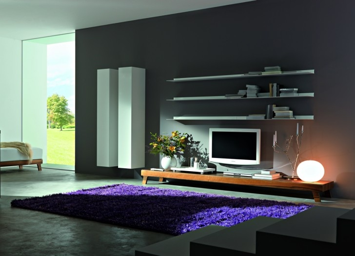 Innovative Premium Long Low TV Stands Within Outstanding Simple Chic Wall Unit For Living Room Interior (Image 28 of 50)