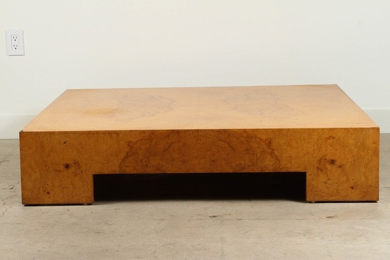 Innovative Premium Low Square Wooden Coffee Tables In Low Square Burl Wood Coffee Table Milo Baughman At 1stdibs (Image 31 of 50)