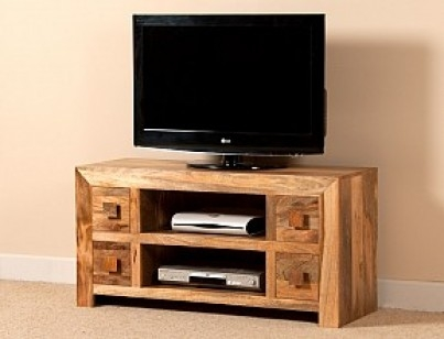 Innovative Premium Mango TV Stands Regarding Large Solid Wood Tv Unit 42 Mango Wood Tv Stand Casa Bella (View 15 of 50)