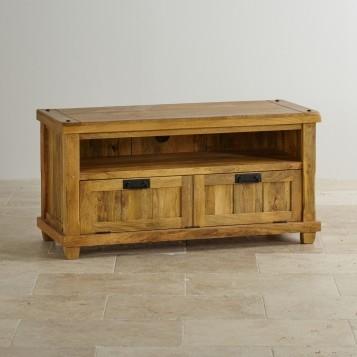 Innovative Premium Mango Wood TV Stands Inside Baku Light Natural Solid Mango Tv Stand Oak Furniture Land (View 38 of 50)