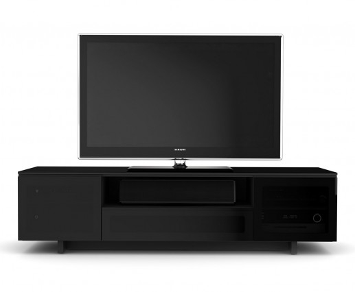 Innovative Premium Modern Black TV Stands Pertaining To Bdi 8239 Black Nora Modern Tv Stand Atmosphere Interiors (View 4 of 50)