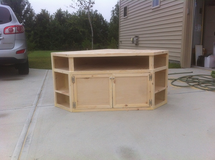 Innovative Premium Pine Corner TV Stands Regarding 13 Diy Plans For Building A Tv Stand Guide Patterns (Image 31 of 50)