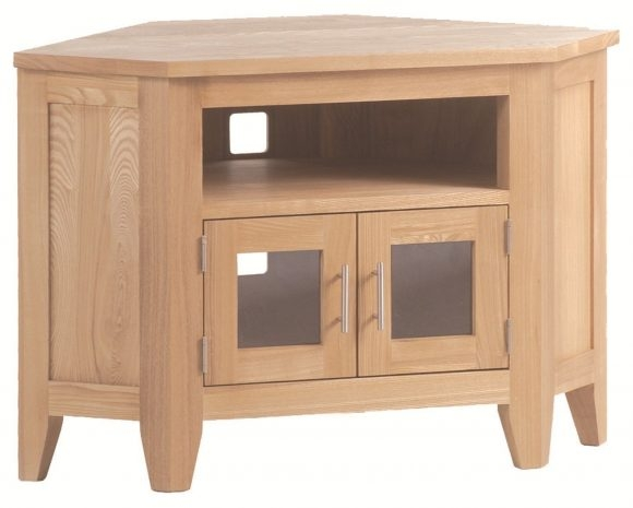 Innovative Premium Small Oak TV Cabinets Pertaining To Furniture Amazing Corner Tv Cabinet With Doors Is The Best Placed (View 44 of 50)