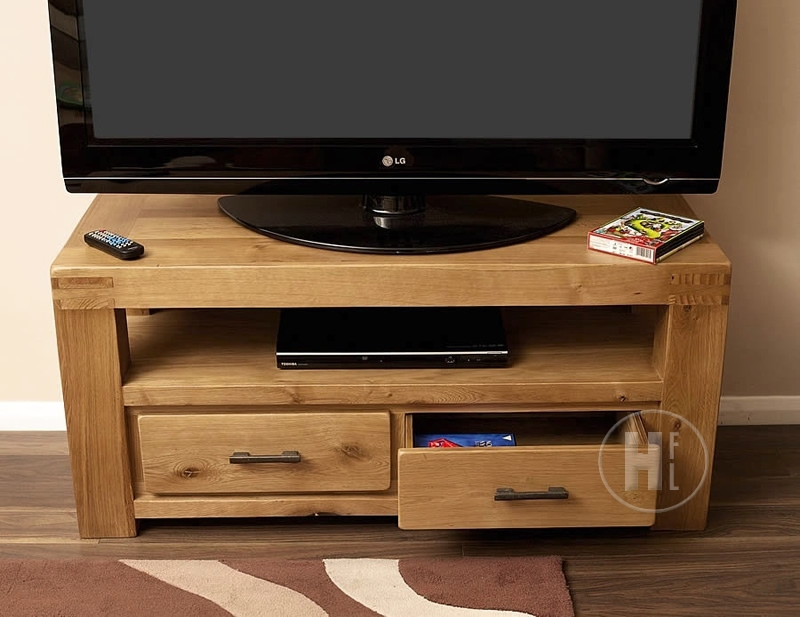 Innovative Premium Small Oak TV Cabinets With 50 Off Chunky Oak Tv Unit Small Oslo (View 6 of 50)