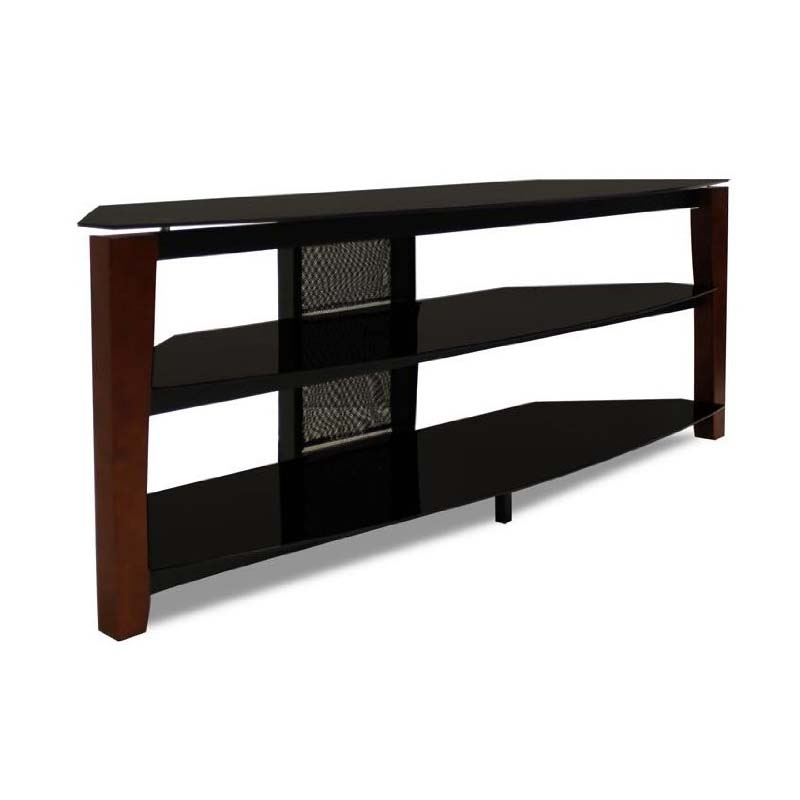 Innovative Premium Solid Wood Black TV Stands Inside Tech Craft Solid Wood And Black Glass Tv Stand With 60 In Tv (Image 41 of 50)