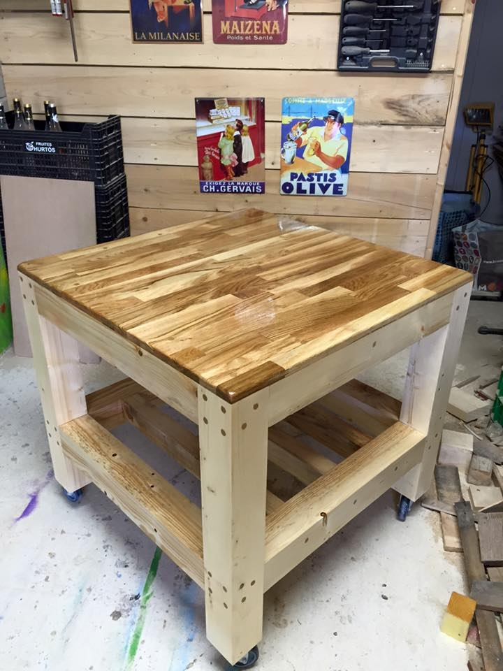 Innovative Premium Square Shaped Coffee Tables With Recycled Pallet Coffee Table 99 Pallets (Image 31 of 50)