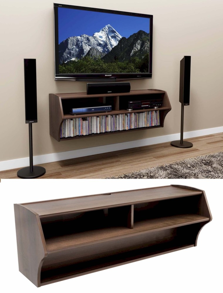 Innovative Premium Wall Mounted TV Stands With Shelves In Wall Mounted Tv Stand With Shelf Home Design Ideas (Image 38 of 50)