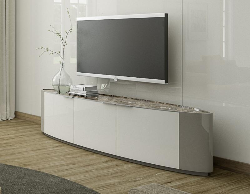 Innovative Premium White Gloss Oval TV Stands Intended For Tv Stands 10 Favorite Design Corner Tv Stands For Flat Screens (View 10 of 50)