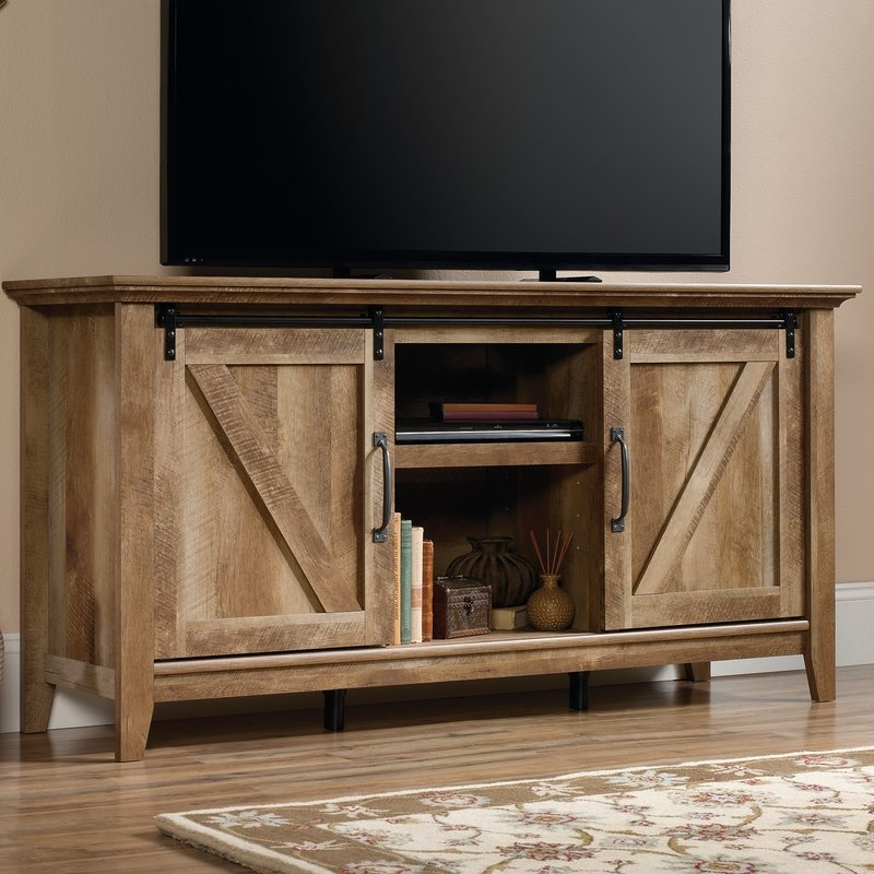 Innovative Series Of Beam Thru TV Stands Regarding Sliding Barn Door Tv Stand Wayfair (Image 34 of 50)