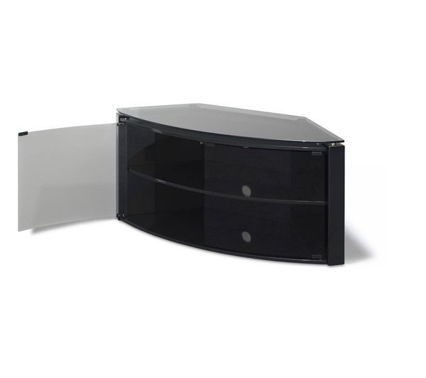 Innovative Series Of Black Corner TV Stands For TVs Up To 60 Throughout Awesome Black Corner Tv Stand Rta Large Black Glass Corner Tv (Image 32 of 50)