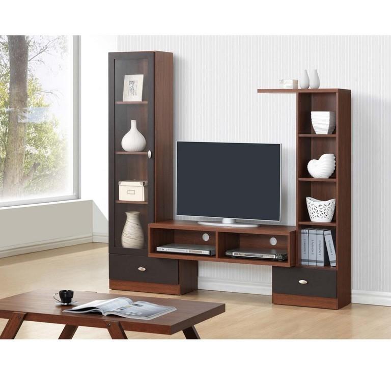 Innovative Series Of Compact Corner TV Stands Inside Black Corner Tv Units Dark Oak Corner Tv Unit With Black Corner (Image 34 of 50)