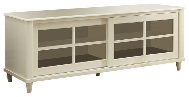 Innovative Series Of French Country TV Stands Regarding French Country Tv Center White 60 Transitional (View 18 of 50)